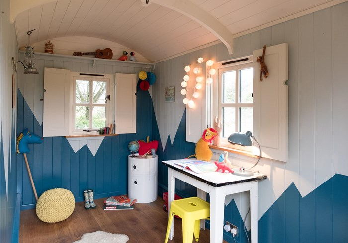 Shepherds hut children's playroom