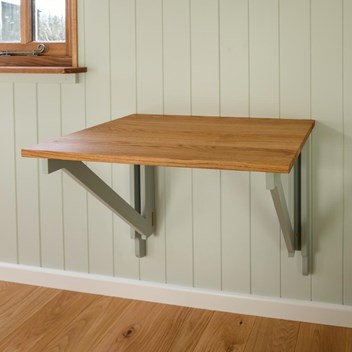 Folding table for a shepherds hut