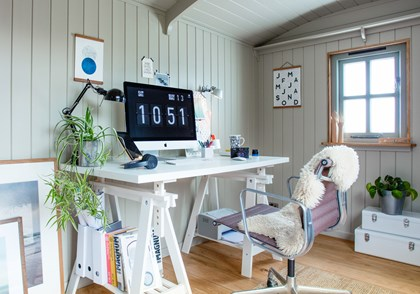 Cabin home office
