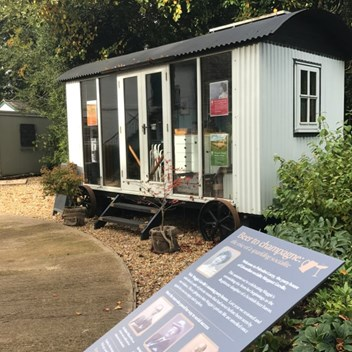 A shepherd's hut custom made project at the National Trust property Polesden Lacey