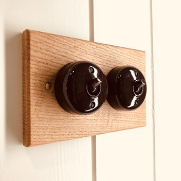 Detail of vintage light switches